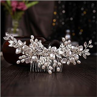 Hair Clip Fashion Silver Color Tiaras Hair Combs for Wedding Hair Accessories Hair Jewelry Elegant Headdress Women Clips (...