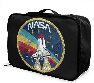XRUDKLO NASA Travel Duffel Bag Portable Storage Carry Luggage Tote Trolley Bag