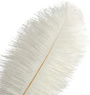 large ostrich feather centerpieces