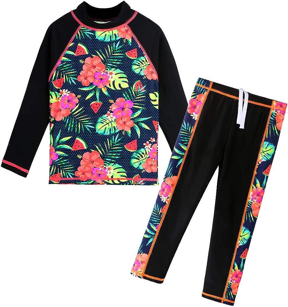 BAOHULU Girls Swimsuit Two shipfree Free shipping Piece Tankini Protective 50+ R UPF UV