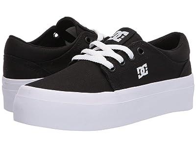 DC Kids Trase Platform TX (Little Kid/Big Kid) (Black/White) Girls Shoes