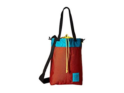 Topo Designs Cinch Tote (Clay/Turquoise) Tote Handbags