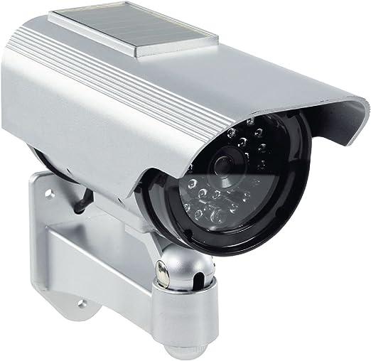 Profi Kamera Dummy Attrappe Mit Solar Panel Blinkender Led Blinkende Led Tolle Überwachungskamera Cctv Ip44 Aussenbereich Kameraatrappe Innen Außen Fake Überwachung Haus Sicherheit Security Baumarkt