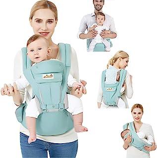 Viedouce Babybärare ergonomisk med höftsits/ren bomull lätt och andningsbar/multiposition: Doral, ventral, justerbar för n...