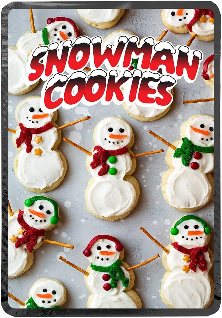 Snowman Cookies Dedication V2 - 28g Mylar 67% OFF of fixed price Bags HeatSeal Smellproof Resealab