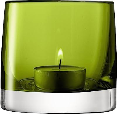 LSA LI28 Bougeoir Light Colour, hauteur 8,5 cm, vert olive