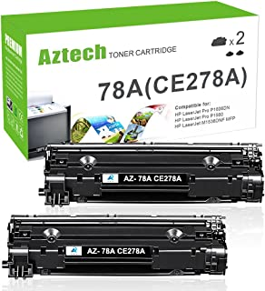 Aztech Compatible Toner Cartridge Replacement for HP 78A CE278A (Black, 2-Packs)