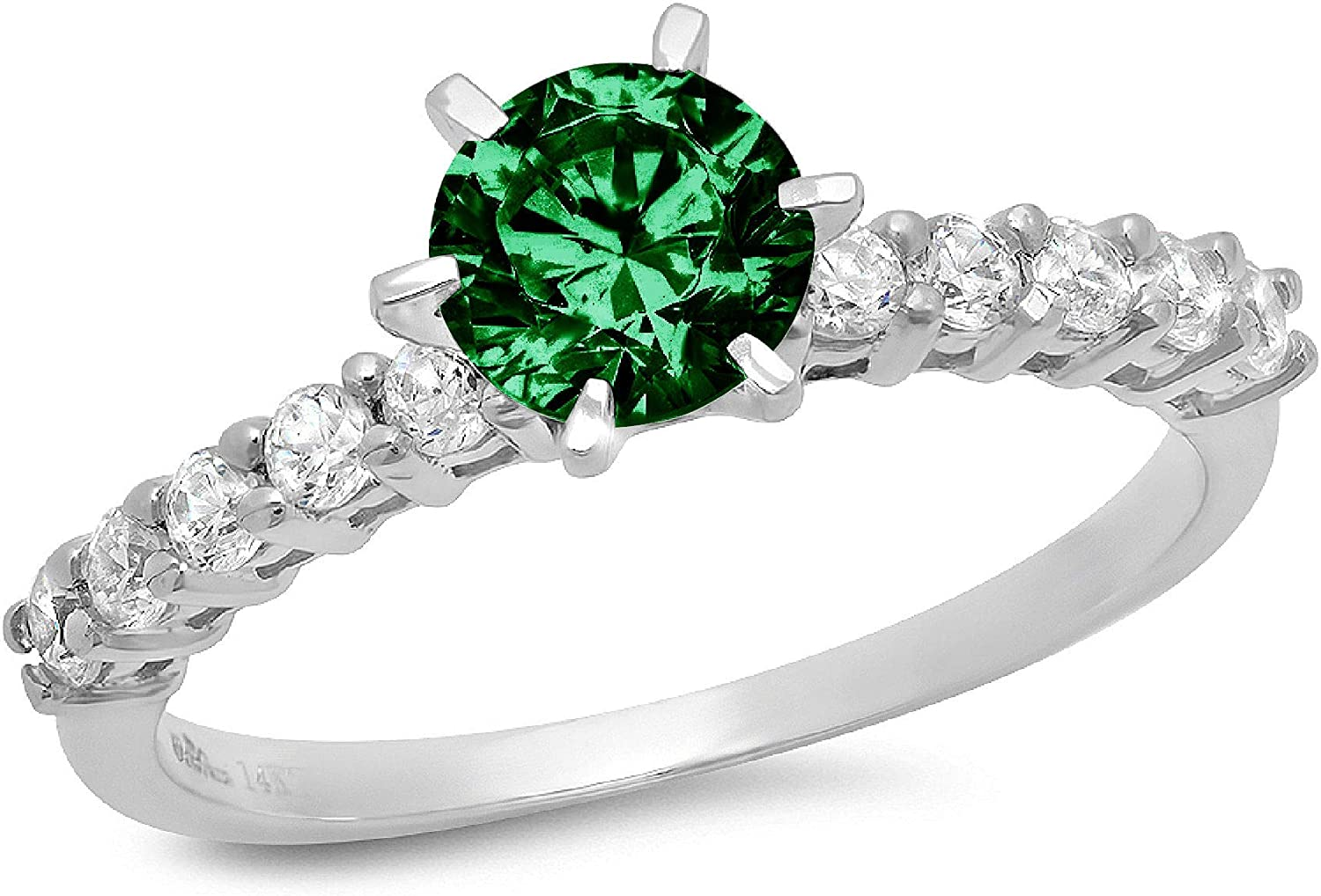 Ranking TOP2 1.20ct Brilliant Round Cut Simulated Genuine Flawless Rapid rise Solitaire