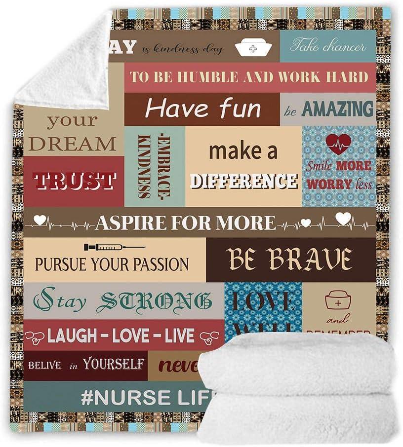 Ranking TOP3 Ultra Soft Nurse Theme Blanket Max 75% OFF Plush Microfiber Sherpa G