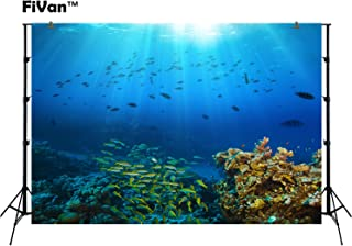 Unterwasserwelt Fotohintergründe für Sommerpartys Bilder Tauchurlaub Themen Fotografie Hintergrund Untersee Photobooth Tapete Tropische Fische Koralle FT3917