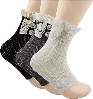 Spring fever Womens Fashion Short Knitting Lace Socks Leg Warmer Boot Cover