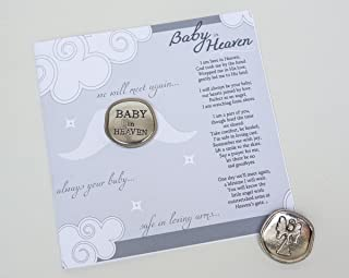 Baby in Heaven Keepsake Pewter Coin with Poem - Infant Loss Memorial