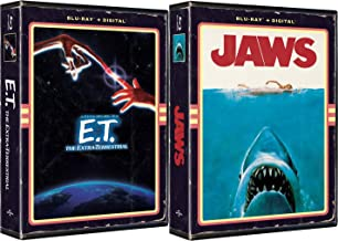 Retro Blu-ray Exclusive in VHS Clamshell Case Steven Spielberg Classics E. T. The Extra-Terrestrial & Jaws 2-Movie Bundle with Digital