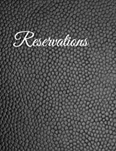 Reservations: Black Faux Leather Reservation Book for Restaurant | 6 Months Guest Booking Diary | Hostess Table Log Journal | Log Book for Restaurants | Softcover Large Size 8.5''x11''