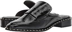 Black Crinkled Patent Leather