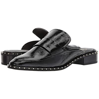 Adrianna Papell Panama (Black Crinkled Patent Leather) Women