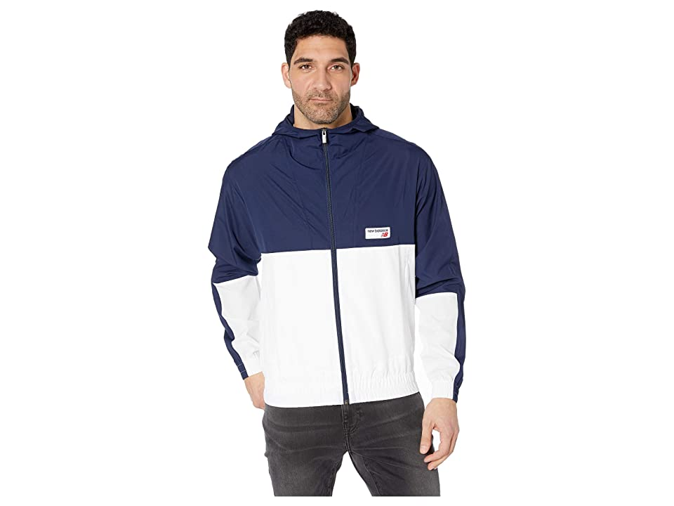 New Balance Athletics Windbreaker (Pigment/White) Men