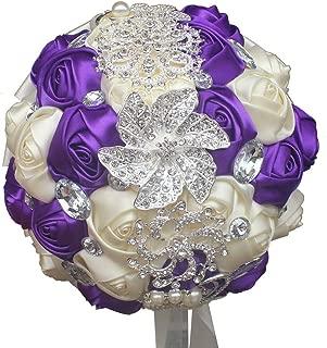 purple posy bouquet