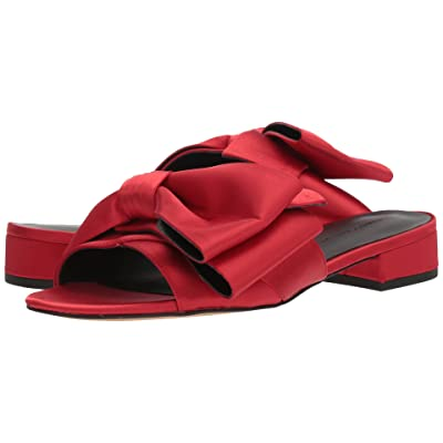 Rebecca Minkoff Calista Slide (Cherry Satin) Women