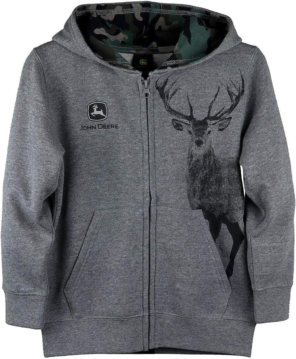 John Deere Gray Spasm price Buck Deer Zip half 4 Sweatshirt Front 5 Hoodie Sizes