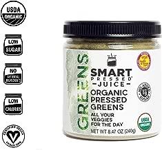 Smart Pressed Organic Greens Superfoods Juice Powder Single Serving Cold-Pressed Vegan Alkalizing Green Juice Cleanse Detox (Original, 30 Servings Bottle)