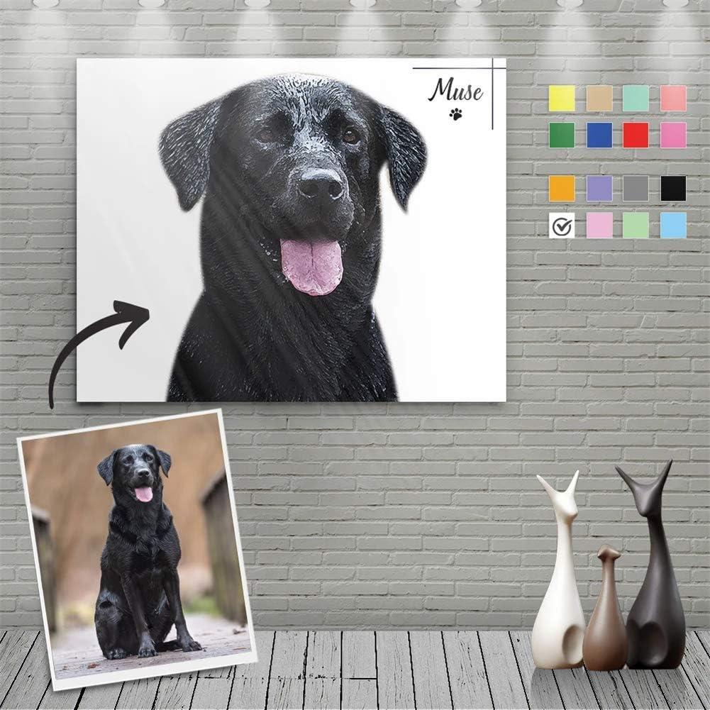 VEELU ランキング総合1位 Custom Canvas Prints with Pets Photos Name Your Portraits 送料無料 新品