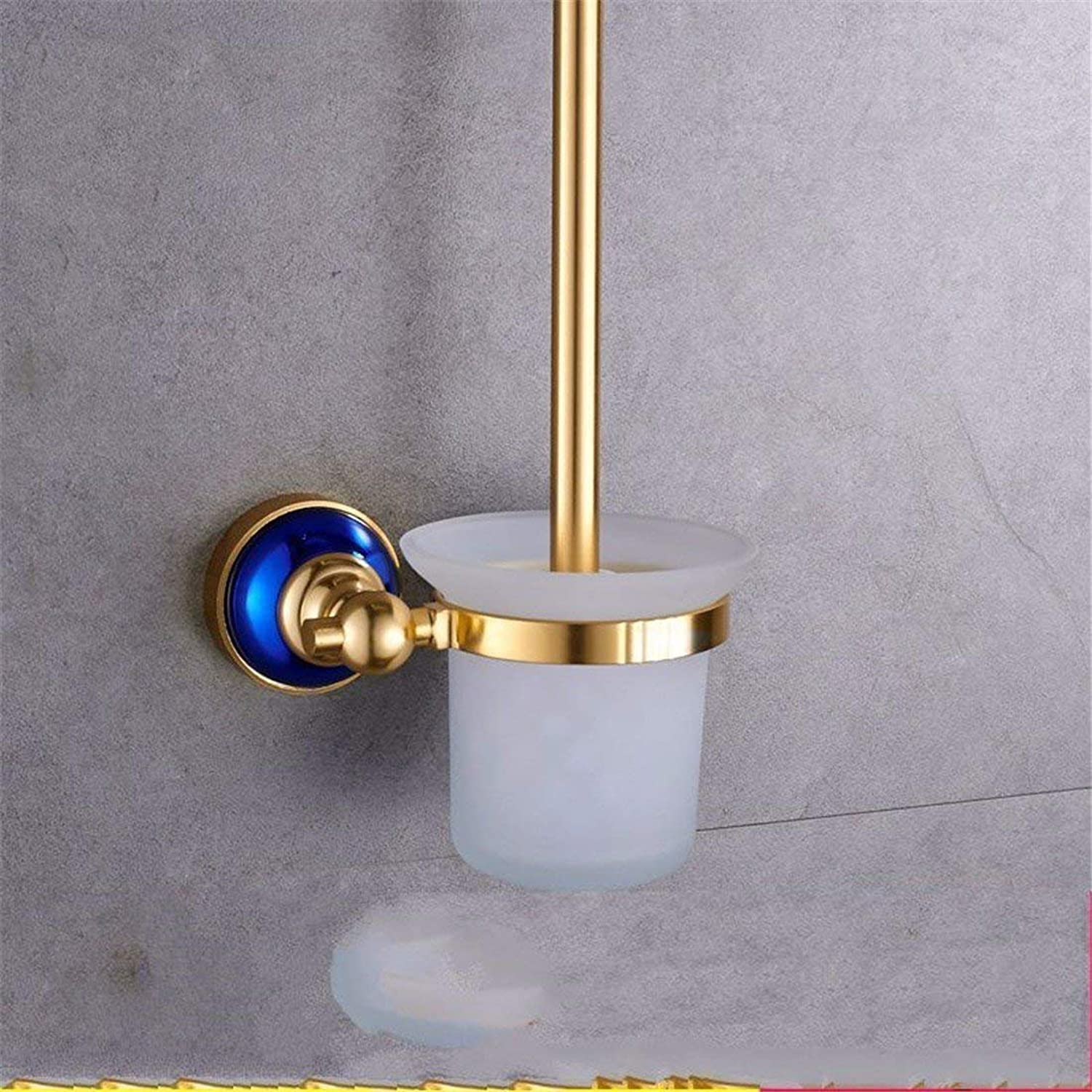 European Style Old bluee, Base of The Aluminum, Toilet Paper, Accessories of Bathroom, Cabinet,Boxes to soap Toilet Brush B