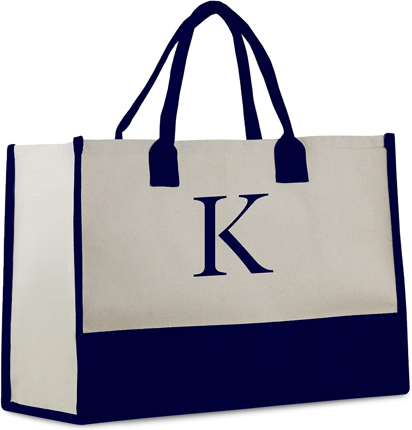 Personalized Gift Monogram Initial 100% Cotton Bag Recommendation wit Chic Max 71% OFF Tote