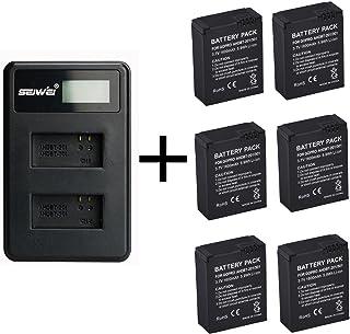 6 Piezas 1600mAh para GoPro AHDBT-201/301 batería de la cámara con Cargador de batería Dual para Gopro Hero 3 3+ AHDBT-301 batería AHDBT-201 (6 pcs Battery with Charger)