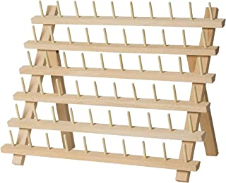 SAND MINE Wooden Thread Rack Sewing and Embroidery Thread Holder, Wood, 60 Spool