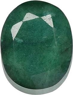 Real Gems Tamaño del Colgante: Esmeralda Natural de Piedras Preciosas Sueltas 37.50 Quilates Esmeralda facetada, Talla Ova...