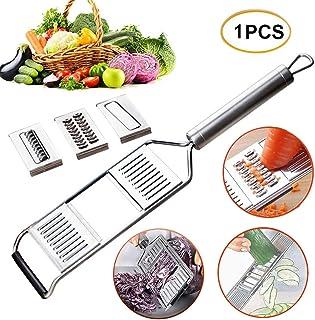 Multi-Purpose Vegetable Slicer Handheld Stainless Steel Shredder Cutter Grater Slicer Multifunction Kitchen Tool Adjustabl...