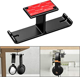Dual Headphone Hanger Headset Stand New bee Under Desk Aluminum Headphone Hook Mount with Cable Organizer for All Headphones