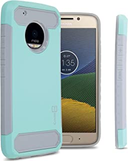 Moto G5 Plus Case, Moto X 2017 Case, CoverON Arc Series Modern Hybrid Phone Cover with Carbon Fiber Styling and Matte Finish for Motorola Moto X (2017 Version) / G5 Plus - Mint