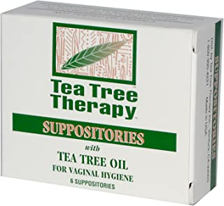 Tea Tree Therapy, Suppositories, with Tea Tree Oil, for Vaginal Hygiene, 6 Suppositories