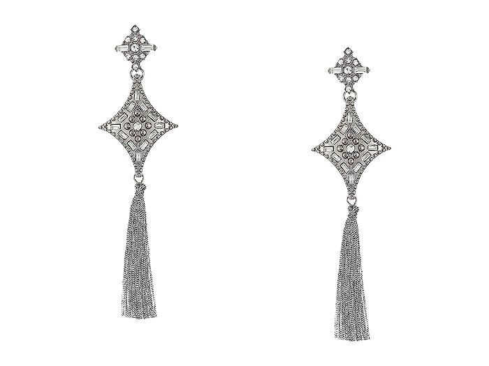 Steve Madden  Drop Fringe Earrings (Gray) Earring