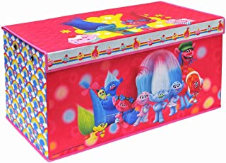 Trolls Folding Soft Storage Bench, Perfect Toy Box or Chest for Playrooms, Officially Licensed Product