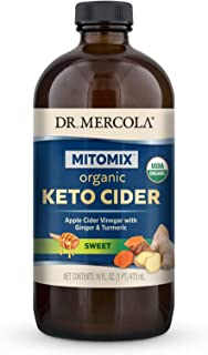 Dr. Mercola Organic Blueberry Apple Cider Vinegar with Ginger & Turmeric (16 fl. oz. per Bottle): 1 Bottle
