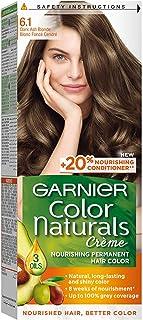 صبغة الشعر كولور ناتشورالز من جارنيه رقم 6.1 لون شعر أشقر دارك اش