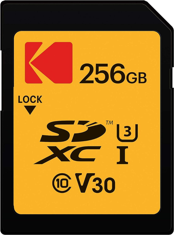 KODAK 256GB Class 10 UHS-1 U3 V30 A1 Memory Card