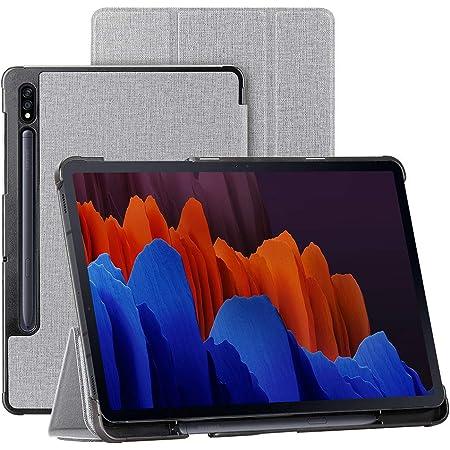 Ddj Samsung Galaxy Tab S7 Plus 12 4 Inch Tablet Case Cover With Stylus Holder Stand Function Anti Slip Shock Absorbing Wake Sleep Black Elektronik