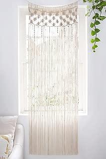 Mkono Macrame Curtain Wall Hanging, Doorway Window Curtains Handwoven Wedding Backdrop Arch, Closet Room Divider Boho Wall Decor, 29
