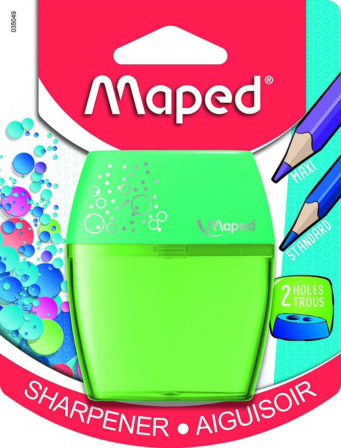 Maped Shaker 2 Hole Pencil Sharpener, Assorted Colors (035049) tv88499789