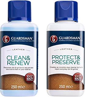 Guardsman Leather Care Kit Leather Cleaner for Couch or car Seats etc