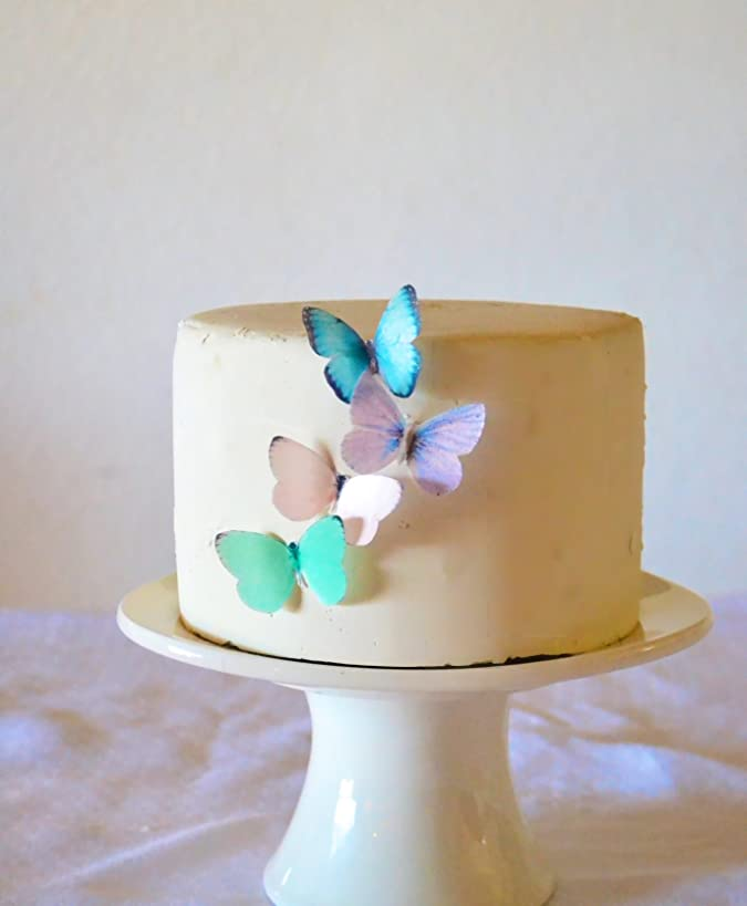 Edible Butterflies ? - Small Assorted Pastel Set of 24 - Cake and Cupcake Toppers, Decoration