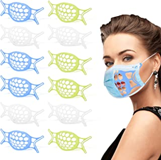 3D Mask Bracket 12PCS - Upgraded Silicone Face Mask Inner Support Frame for More Breathing Space, Keep Fabric off Mouth, L...