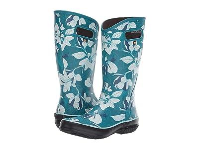 Bogs Spring Vintage Rain Boot (Aqua Multi) Women