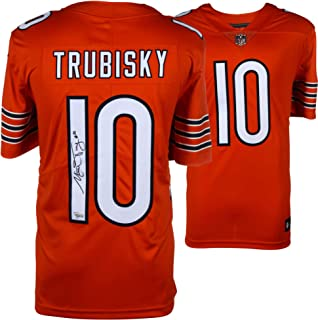Mitchell Trubisky Chicago Bears Autographed Nike Orange Limited Jersey - Fanatics Authentic Certified