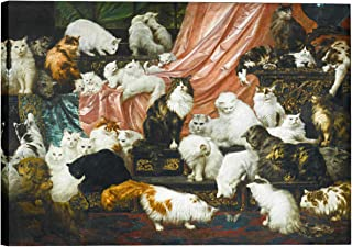 Eliteart-My Wife`s Lovers by Carl Kahler Oil Painting Reproduction Giclee Wall Art Canvas Prints