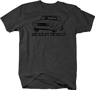 Distressed - American Thunder Chevy Chevelle Nova SS Car Tshirt